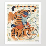 Texas Tiger Art Print