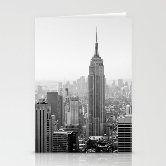 Manhattan - Empire State Building Panorama | B/W Stationery Card