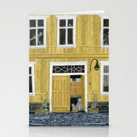 Yellow Building Stationery Cards