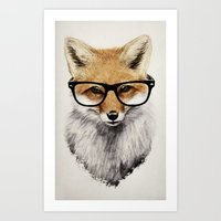 fox Art Prints featuring Mr. Fox by Isaiah K. Stephens