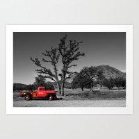 That Red Truck Art Print