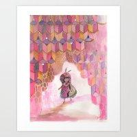 Honeycomb Wanderer Art Print