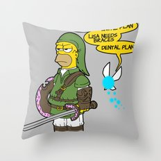 The Simpsons: Legend of Zel... er- D'OH! Throw Pillow