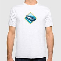 container ship diamond retro Mens Fitted Tee Ash Grey SMALL