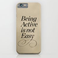 iPhone & iPod Case featuring Being active is not easy. by iamtanya