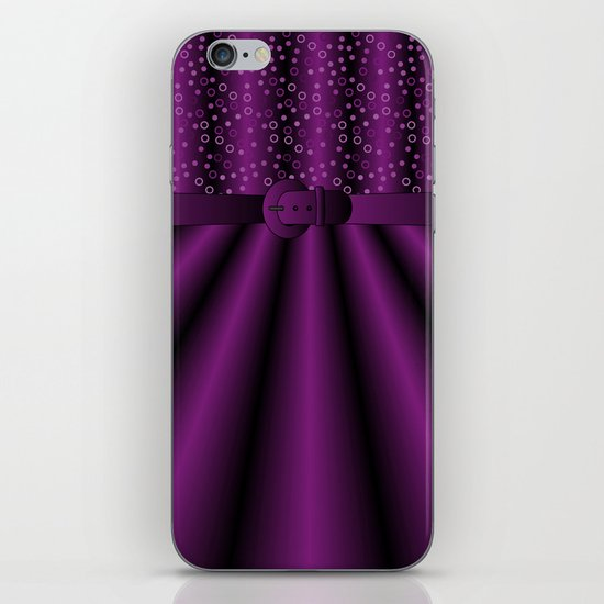 Purple Satin Gown iPhone & iPod Skin