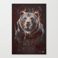DARK BEAR Canvas Print
