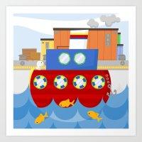 SHIP (AQUATIC VEHICLES) Art Print