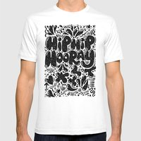 HIP HIP HOORAY Mens Fitted Tee White SMALL
