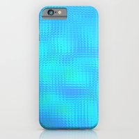 iPhone & iPod Case featuring Blurry blue glass by Pink grapes