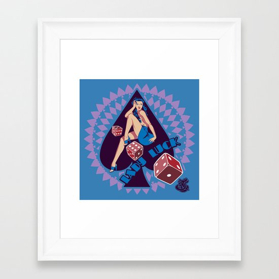 Lady Luck Framed Art Print
