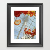 Space Needle And Chihuly… Framed Art Print