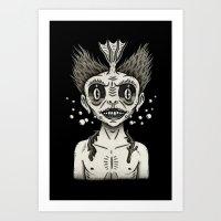 Portrait Of A Fiji Merma… Art Print