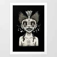 Portrait of a Fiji Merman Art Print