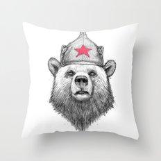russian bear Throw Pillow