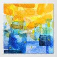 Sunburst Watercolor Canvas Print