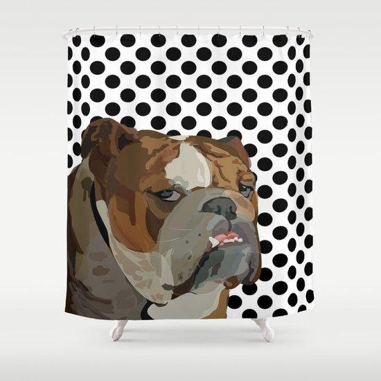 Dog Shower Curtain By Kozza