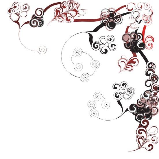 Red Swirls And Twirls Art Print
