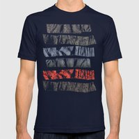 Nature Tape Mens Fitted Tee Navy SMALL