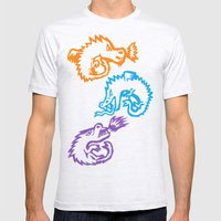 Crayon Love: Dragons Mens Fitted Tee Ash Grey SMALL