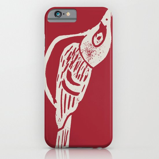 Black Capped Vireo - Hand Carved Stamp iPhone & iPod Case