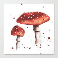 Fly Agaric, Magic Mushroom, Mushroom, Shrooms, woodland, fairytale, toadstool Canvas Print