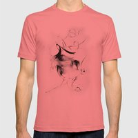 Line 5 Mens Fitted Tee Pomegranate SMALL