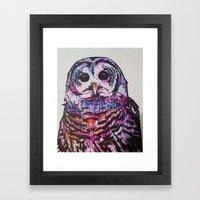 Something like an Owl Framed Art Print