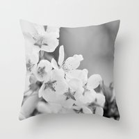 Blooming Softly Throw Pillow
