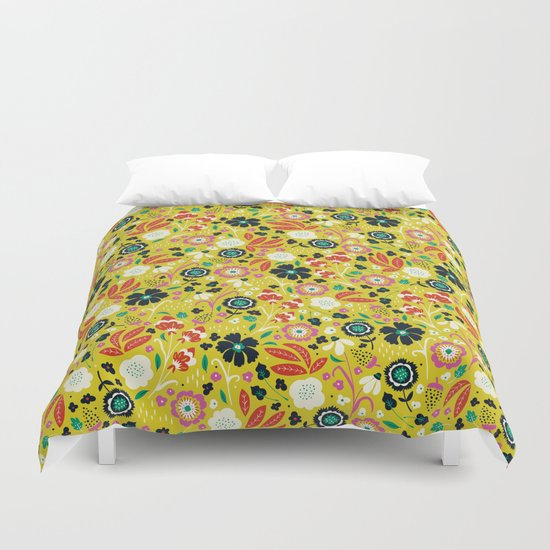 Flourishing Florals Duvet Cover