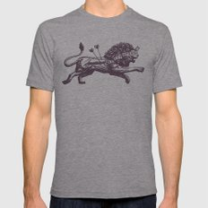 Be Not Afraid Mens Fitted Tee Athletic Grey SMALL
