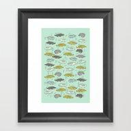 Cute Crocodiles Framed Art Print