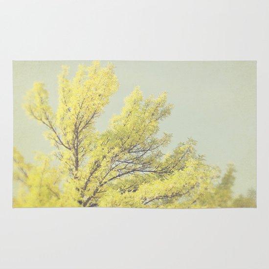 Yellow Tree Area & Throw Rug
