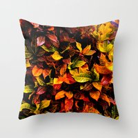 Red, Yellow, Green Throw Pillow