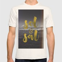 Sol & Sal Mens Fitted Tee Natural SMALL