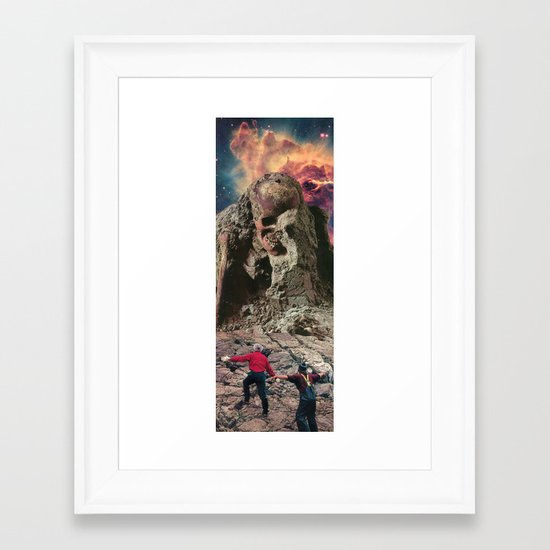 the bones of an idol Framed Art Print
