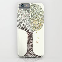 iPhone & iPod Case featuring season tree by nefos