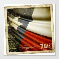 Grunge Sticker Of Texas … Canvas Print