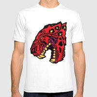 Crimson Mens Fitted Tee White SMALL
