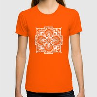 Omjarah, Absolute Womens Fitted Tee Orange SMALL