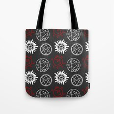 Symbols Pattern Tote Bag