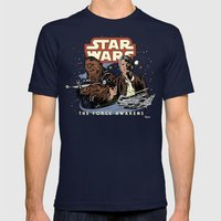 Chewie, We're Home Mens Fitted Tee Navy SMALL