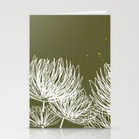 Olive Doodle Floral By F… Stationery Cards