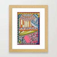 C13 doodle 6 Framed Art Print
