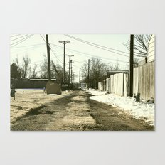 Suburban Back Alley Canvas Print