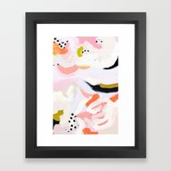 Framed Art Print featuring Dotty by Patricia Vargas