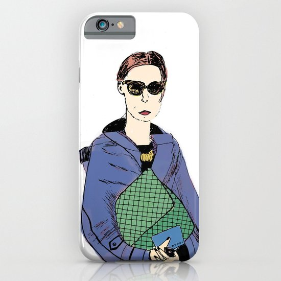 Bag Lady Blue iPhone & iPod Case