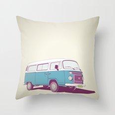 VW Combi v.02 Throw Pillow