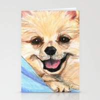 Preppy Pomeranian Stationery Cards