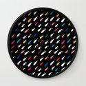 Bright Droplets Wall Clock